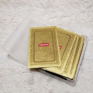 Supreme FW13 Gold Playing Cards